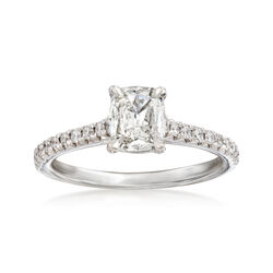 Henri Daussi 1.01 ct. t.w. Diamond Engagement Ring in 18kt White Gold, , default