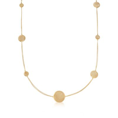 "Roberto Coin ""Silk"" 18kt Yellow Gold Station Necklace, , default"