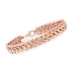 14kt Rose Gold Woven-Link Bracelet, , default