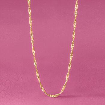 Italian 3.5mm 14kt Yellow Gold Singapore Chain, , default
