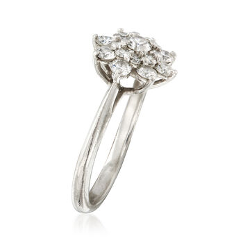 C. 1990 Vintage Tiffany Jewelry .80 ct. t.w. Diamond Cluster Ring in Platinum. Size 5