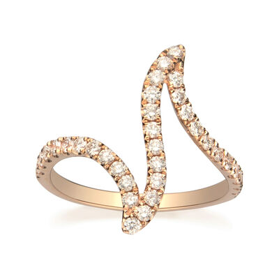 .60 ct. t.w. Diamond Zigzag Ring in 14kt Rose Gold