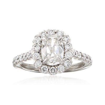 Henri Daussi 2.21 ct. t.w. Diamond Engagement Ring in 18kt White Gold, , default