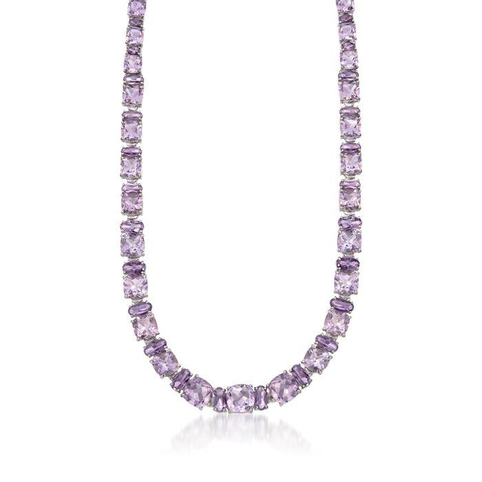 "50.35 ct. t.w. Purple Amethyst Necklace in Sterling Silver. 18"", , default"