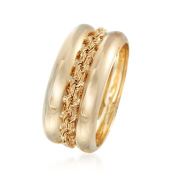 14kt Yellow Gold Roped Ring