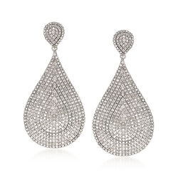 5.00 ct. t.w. Diamond Drop Earrings in Sterling Silver, , default