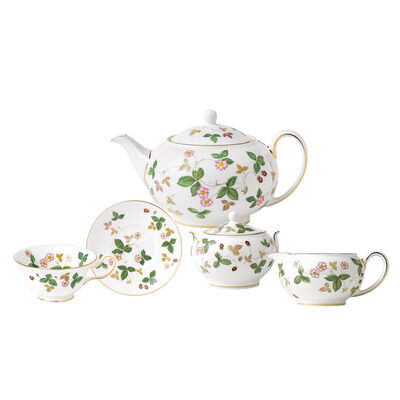 "Wedgwood ""Wild Strawberry"" Tea Service"
