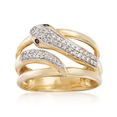 .21 ct. t.w. Diamond Snake Ring in 14kt Yellow Gold