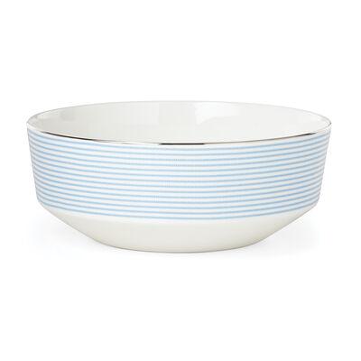 "Kate Spade New York ""Laurel Street"" Blue and White Ceramic Serving Bowl, , default"