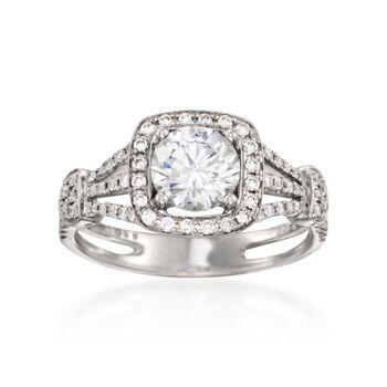 Simon G. .39 ct. t.w. Diamond Engagement Ring Setting in 18kt White Gold, , default