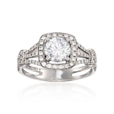 Simon G. .39 ct. t.w. Diamond Engagement Ring Setting in 18kt White Gold, , default