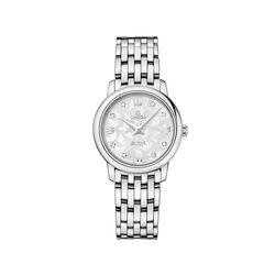 Omega De Ville Prestige Butterfly 27.4mm Stainless Steel Watch With Diamonds, , default