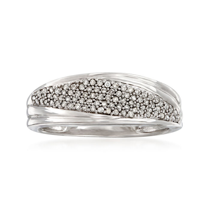 .25 ct. t.w. Pave Diamond Marquise-Shaped Ring in 14kt White Gold