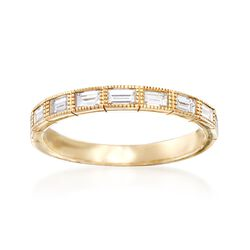 .69 ct. t.w. Baguette Diamond Ring in 14kt Yellow Gold, , default