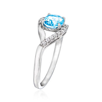 1.20 ct. t.w. Blue and White Swarovski Topaz Ring in Sterling Silver, , default