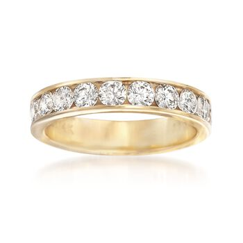 1.00 ct. t.w. Channel-Set Diamond Wedding Ring in 14kt Yellow Gold, , default