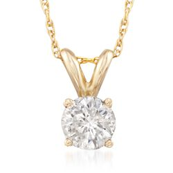 .50 Carat Diamond Solitaire Necklace in 14kt Yellow Gold, , default