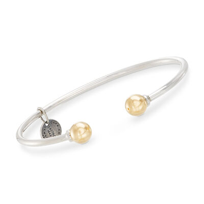 Cape Cod Jewelry Sterling Silver and 14kt Yellow Gold Cuff Bracelet, , default