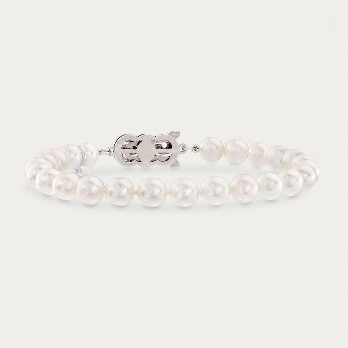 Mikimoto 6-6.5mm A1 Akoya Pearl Bracelet in 18kt White Gold