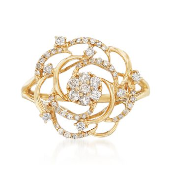 .40 ct. t.w. Diamond Rose Ring in 14kt Yellow Gold, , default