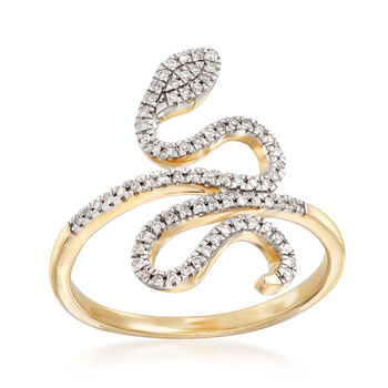 .15 ct. t.w. Diamond Snake Ring in 14kt Yellow Gold