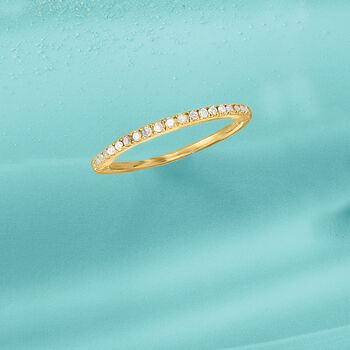 .15 ct. t.w. Diamond Ring in 18kt Gold Over Sterling