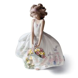 "Lladro ""Wildflowers"" Porcelain Figurine, , default"