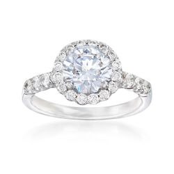 .64 ct. t.w. Diamond Engagement Ring Setting in 14kt White Gold, , default
