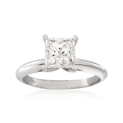 1.52 Carat Certified Diamond Solitaire Ring in 18kt White Gold