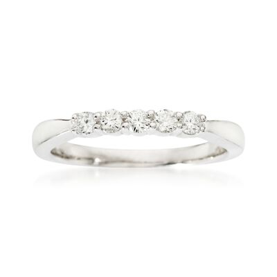 .25 ct. t.w. Diamond Five-Stone Wedding Ring in 14kt White Gold, , default