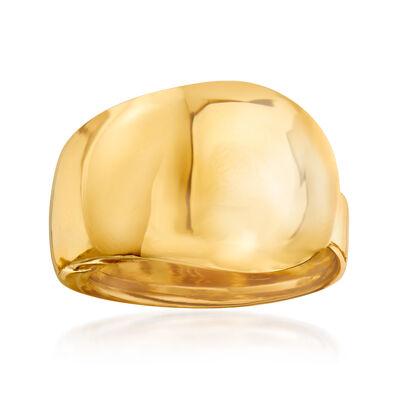 Italian 18kt Yellow Gold Ring
