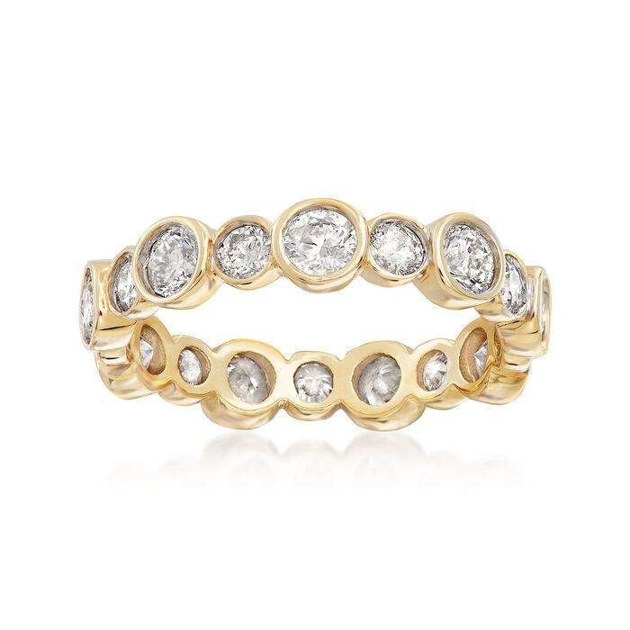 2.00 ct. t.w. Bezel-Set Diamond Eternity Band in 14kt Yellow Gold, , default