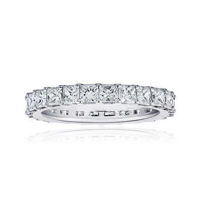 1.90 ct. t.w. Princess-Cut Diamond Eternity Band in 14kt White Gold, , default