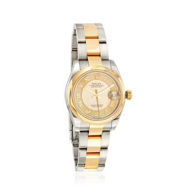 Pre-Owned Rolex Datejust Women's 31mm Automatic Stainless Steel Watch with 18kt Yellow Gold, , default