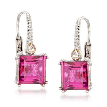 5.00 ct. t.w. Mystic Berry Quartz Earrings with White Topaz and 14kt Gold Accents in Sterling Silver, , default