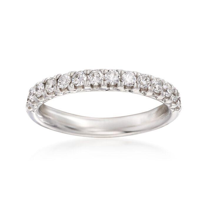 Henri Daussi .47 ct. t.w. Diamond Wedding Ring in 18kt White Gold, , default