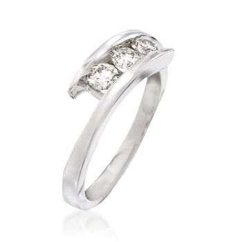 .50 ct. t.w. Diamond Three-Stone Bypass Ring in 14kt White Gold, , default