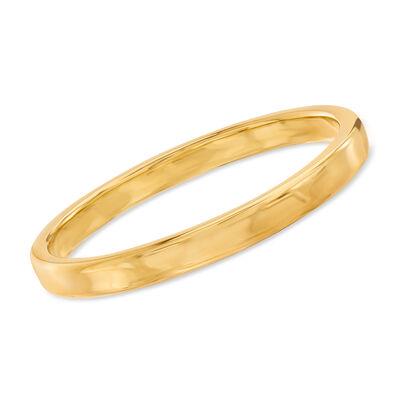 Italian Andiamo 14kt Yellow Gold Squared-Edge Bangle Bracelet