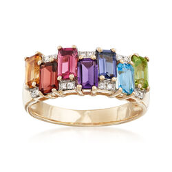 1.80 ct. t.w. Multi-Stone Ring in 14kt Yellow Gold, , default