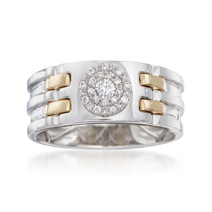 Men's .25 ct. t.w. Diamond Ring in 14kt Two-Tone Gold