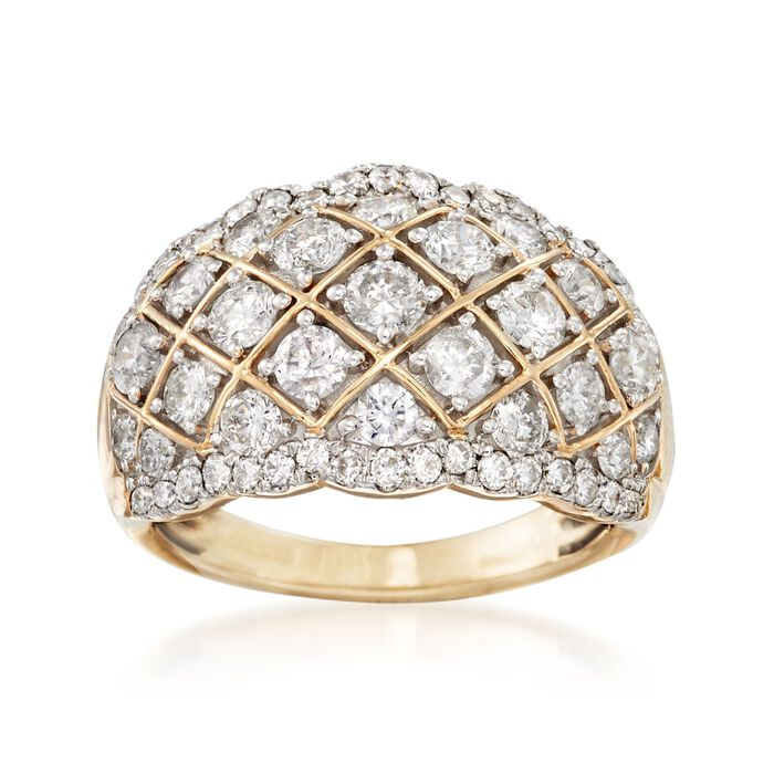 2.00 ct. t.w. Diamond Quilt Ring in 14kt Yellow Gold