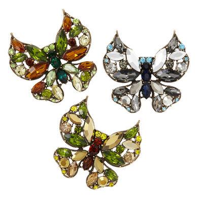 Joanna Buchanan Set of 3 Multicolored Butterfly Clips, , default