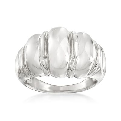 Italian Sterling Silver Shrimp Ring, , default