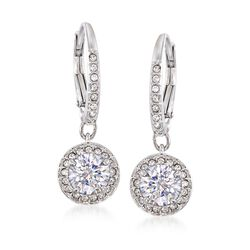 "Swarovski Crystal ""Attract"" Crystal Drop Earrings in Silvertone, , default"