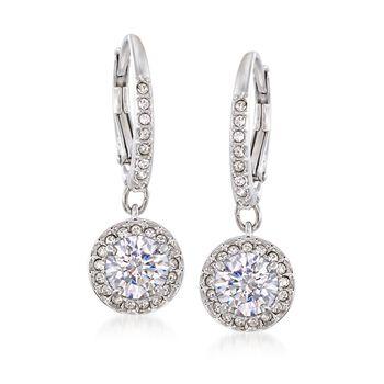 """Swarovski Crystal """"Attract"""" Crystal Drop Earrings in Silvertone, , default"""