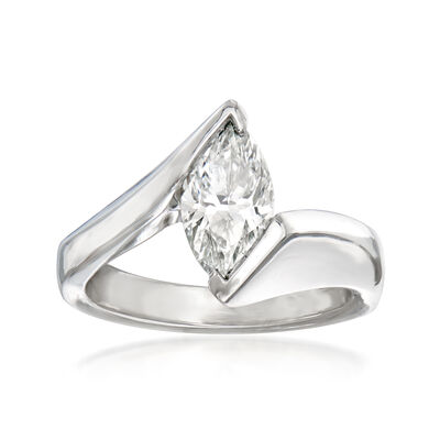 C. 2000 Vintage 1.16 Carat Diamond Ring in Platinum