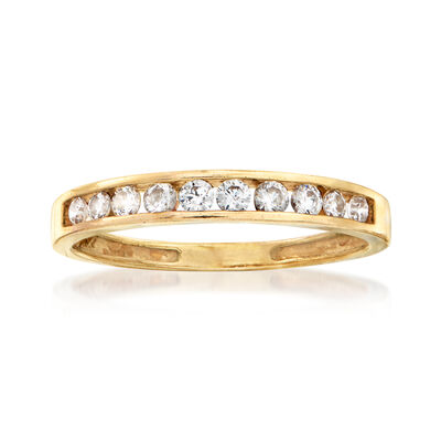 C. 1980 Vintage .50 ct. t.w. CZ Band in 14kt Yellow Gold, , default