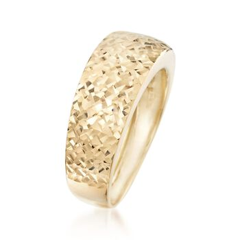 Italian 14kt Yellow Gold Diamond-Cut Ring