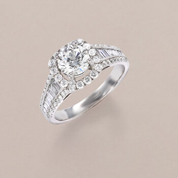 1.88 ct. t.w. Certified Diamond Ring in 18kt White Gold