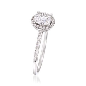 1.26 ct. t.w. Certified Diamond Engagement Ring in 18kt White Gold, , default